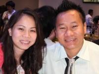 Hoàng Anh và Phú (con gái và rể của anh Hùng)
